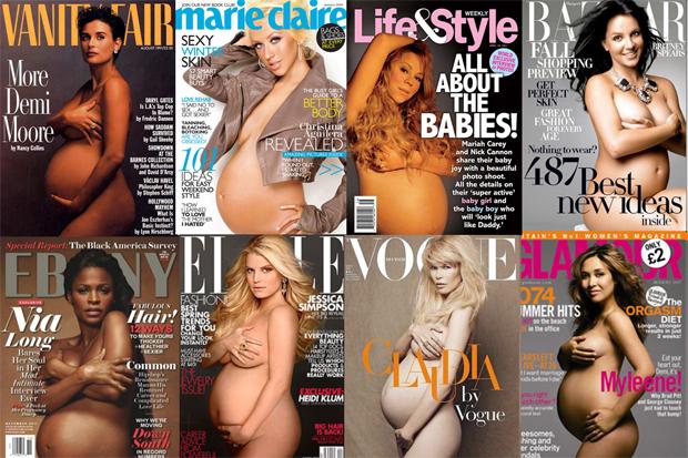 Meztelen kismamák a címlapon