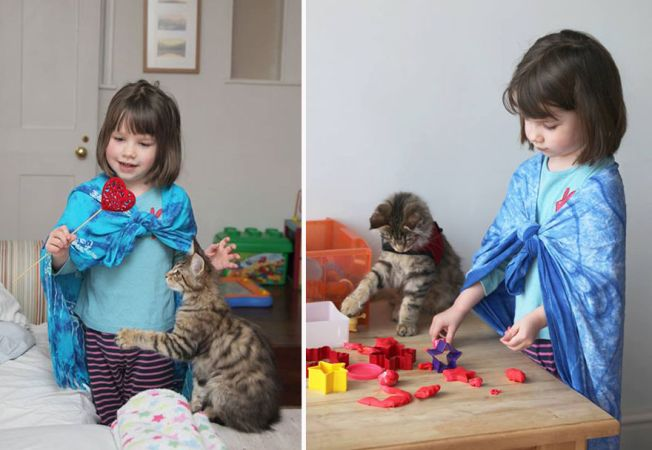 Cicája segíti az autista kislány életét