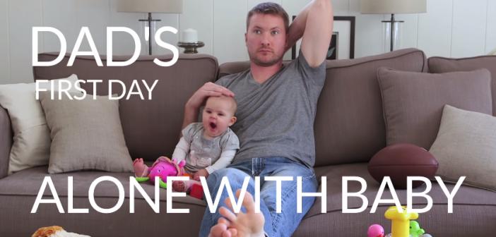Videó: amikor apa és a baba először maradnak kettesben otthon
